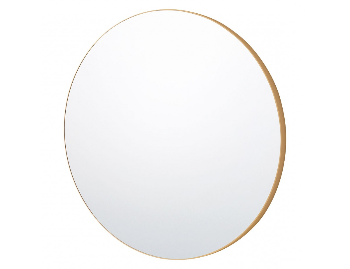 Patsy D110cm Extra Large Round Gold Wall Mirror Inside Trendy Large Gold Wall Mirrors (View 8 of 20)