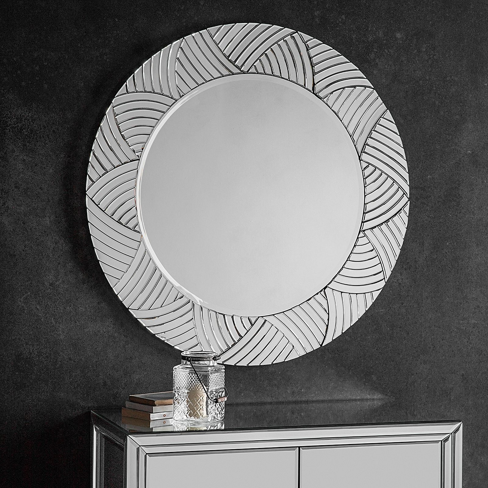 Pearson Round Wall Mirror With Regard To Favorite White Round Wall Mirrors (View 6 of 20)