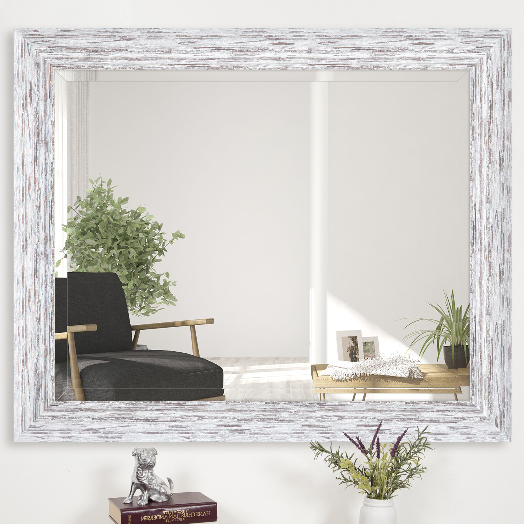 Peetz Modern Rustic Accent Mirrors In Latest Dorothea Scoop Framed Beveled Accent Mirror (View 9 of 20)