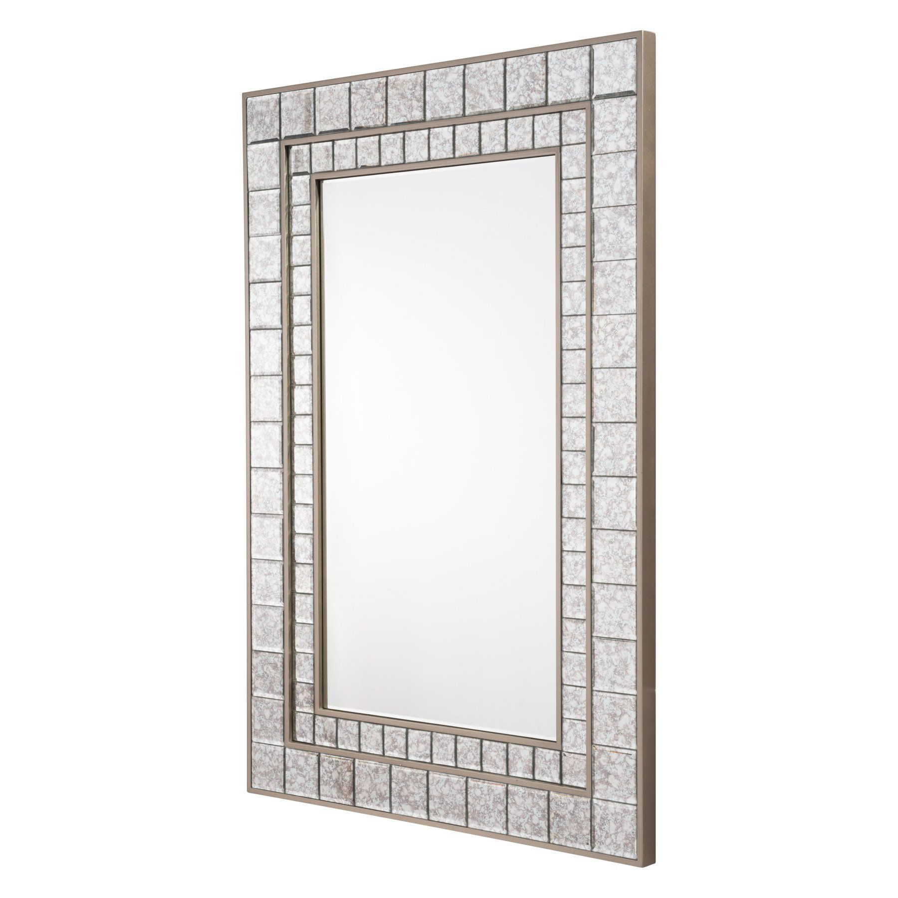 Pennsburg Rectangle Wall Mirrors For Best And Newest Zuo Modern Contemporary Antique Square Mini Mirror Framed Mirror (View 18 of 20)