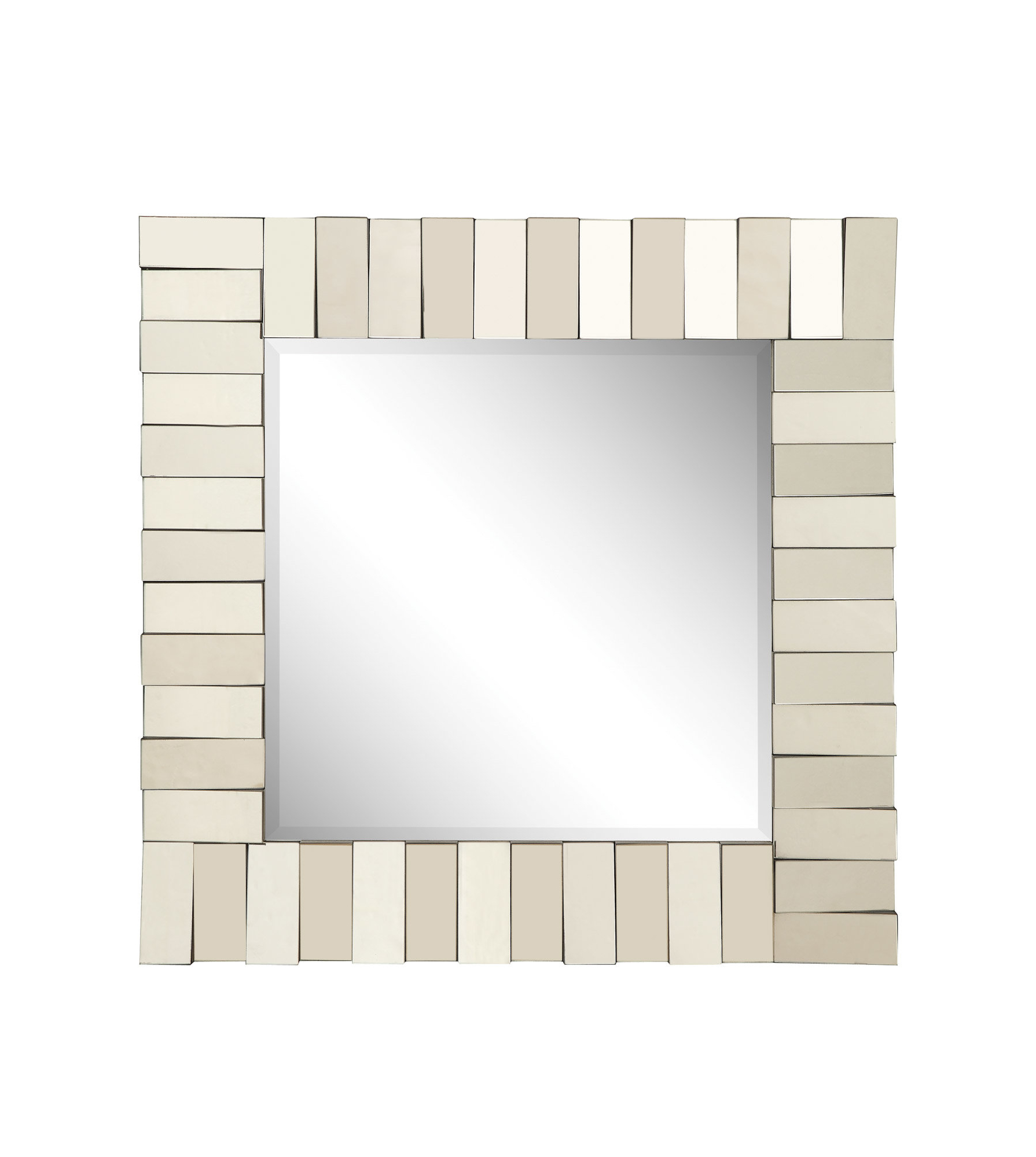 Pennsburg Rectangle Wall Mirrors Regarding Most Popular Square Silver Wall Mirror (View 16 of 20)