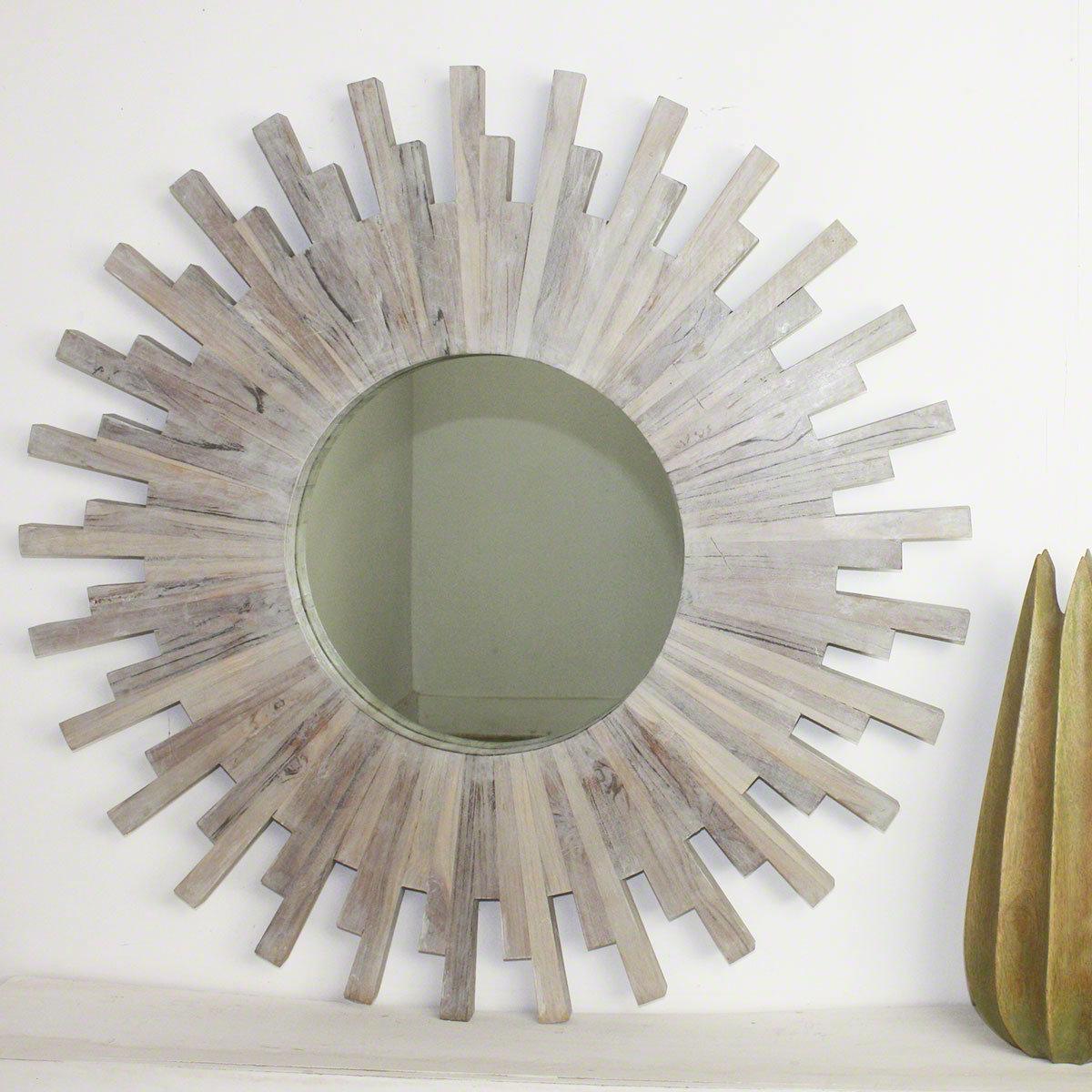 Perillo Burst Wood Accent Mirrors In Famous Deshazo Branch Modern & Contemporary Accent Mirror (Gallery 6 of 20)