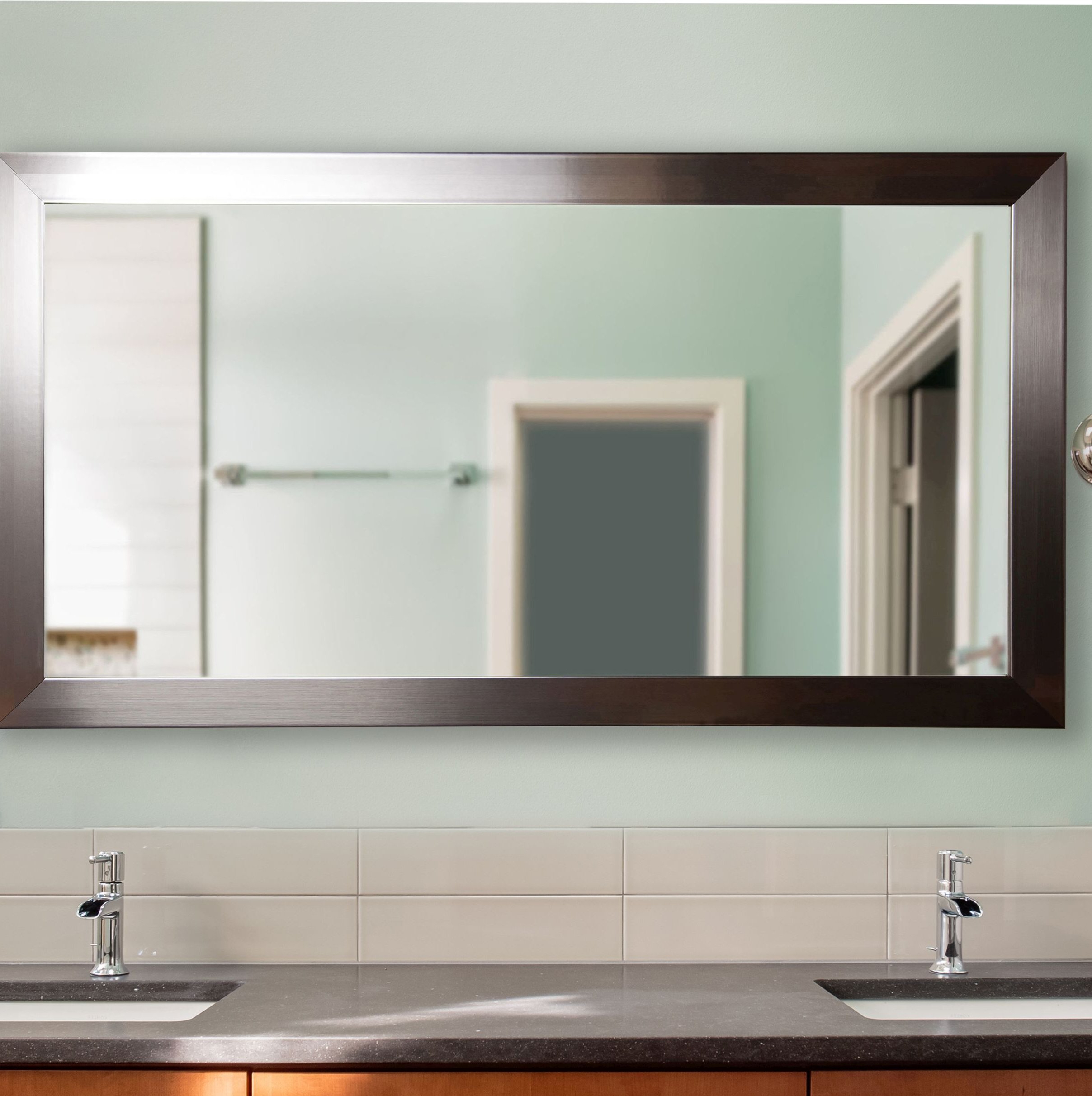 Petite Double Vanity Wall Mirror With Recent Vanity Wall Mirrors (View 5 of 20)