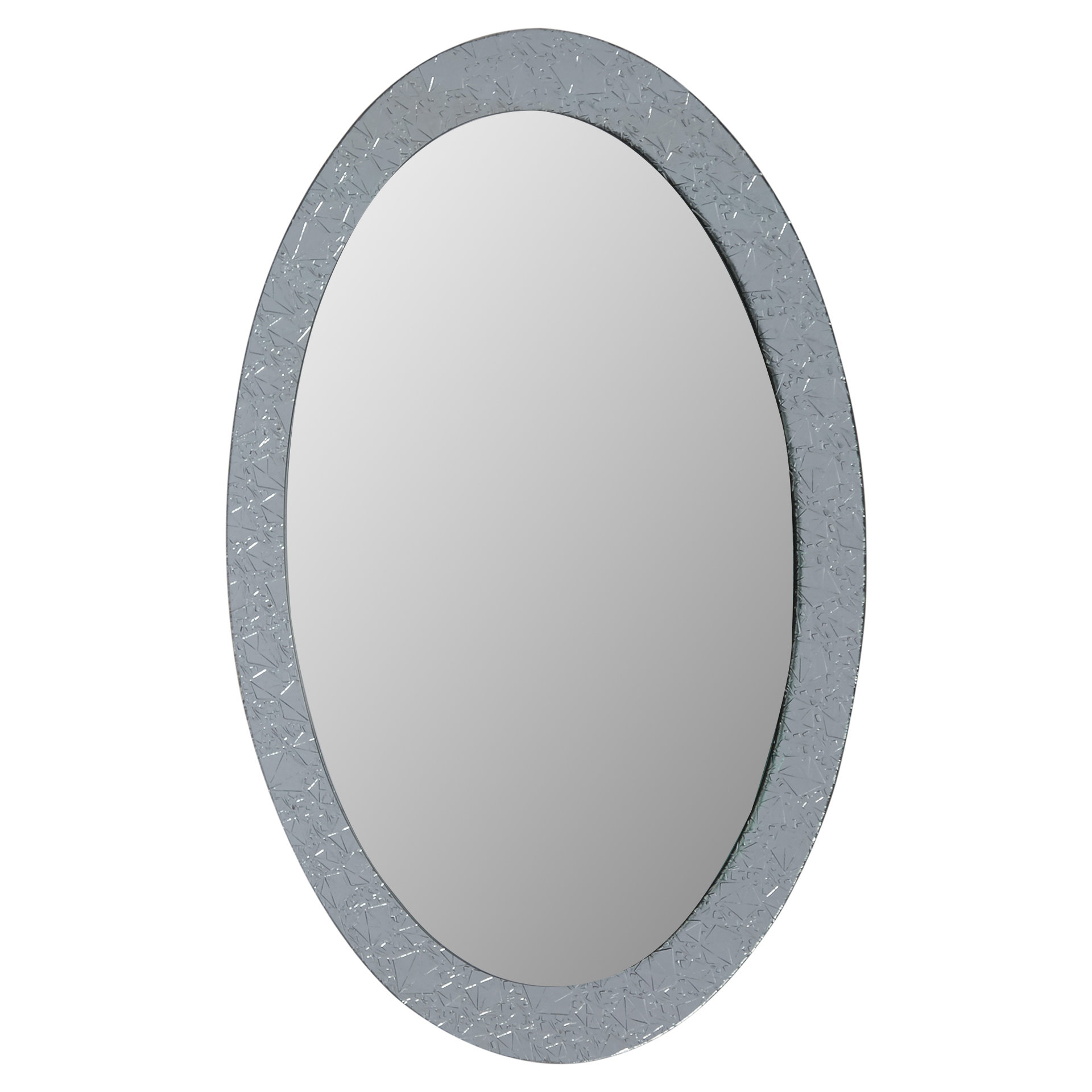Pfister Oval Wood Wall Mirrors Within Best And Newest Willa Arlo Interiors Sajish Oval Crystal Wall Mirror (View 20 of 20)