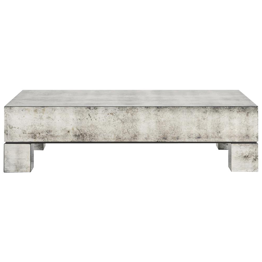 Phineas Industrial Loft Antiqued Mirror Coffee Table With Popular Phineas Wall Mirrors (Gallery 12 of 20)