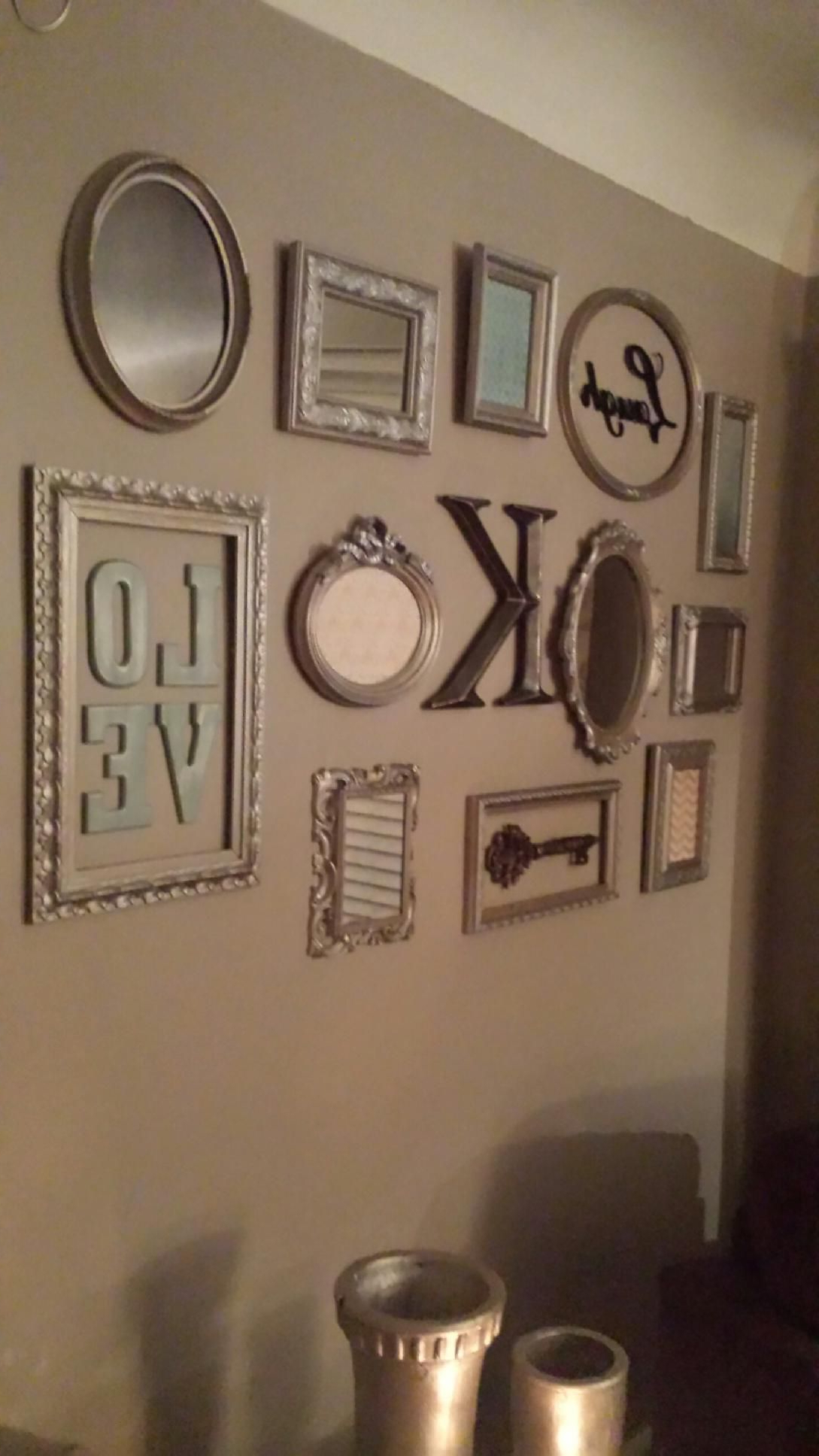 Picture Frame Collage Wall Turned Out So Cute! (View 3 of 20)