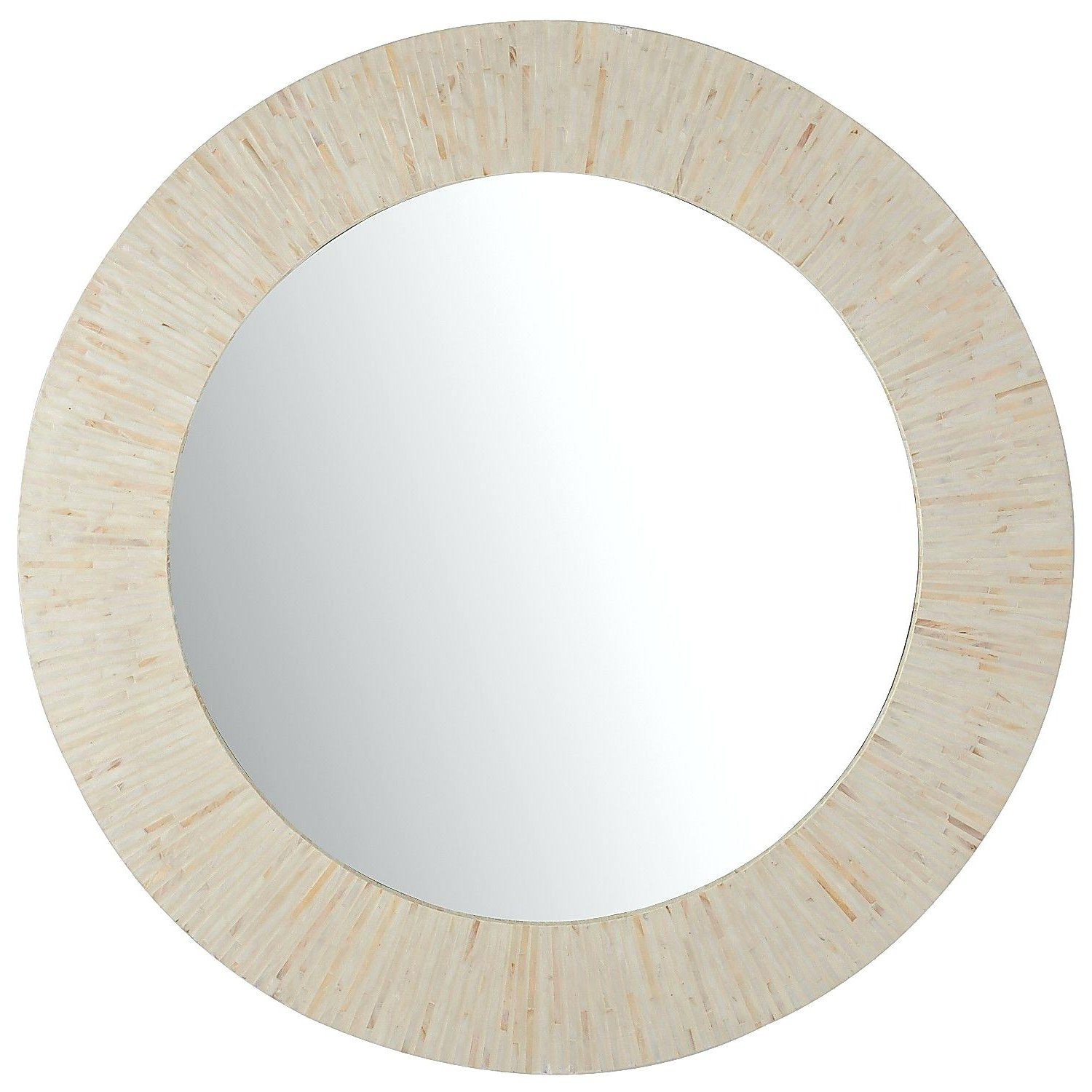 Pier One Wall Mirrors In Fashionable Mother Of Pearl Wall Mirror Ivory Round Pier 1 A Leftward Chevron (View 18 of 20)