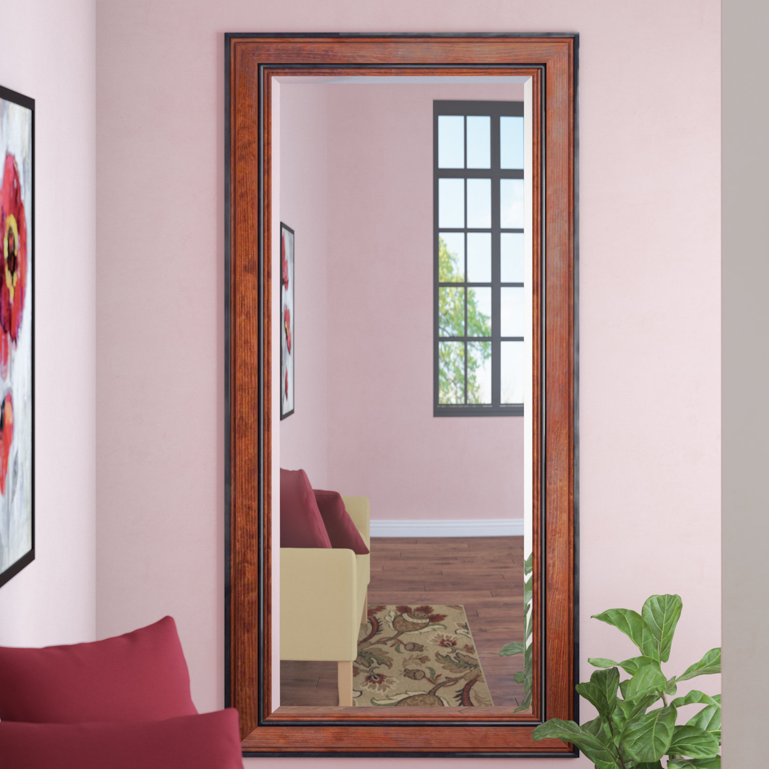 Pine Wall Mirrors Within Most Current Rustic Pine Beveled Wall Mirror (View 15 of 20)