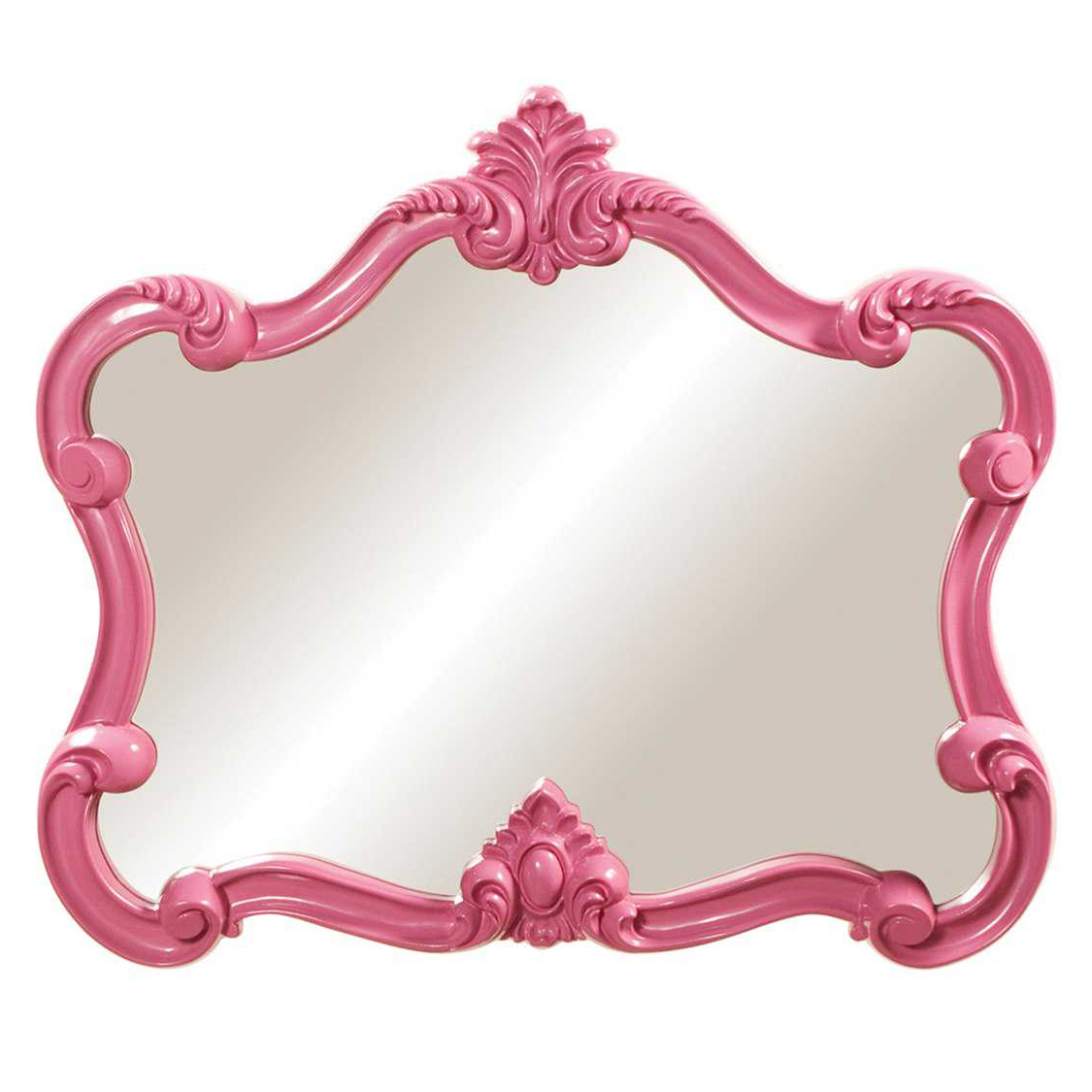 Pink Wall Mirrors In Most Up To Date Howard Elliott Veruca 32 X 28 Pink Wall Mirror (View 12 of 20)