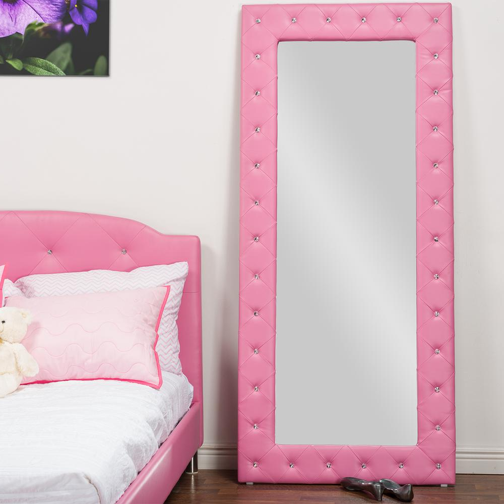Pink Wall Mirrors Throughout Best And Newest Baxton Studio Stella 71 In. H X 31 In (View 14 of 20)