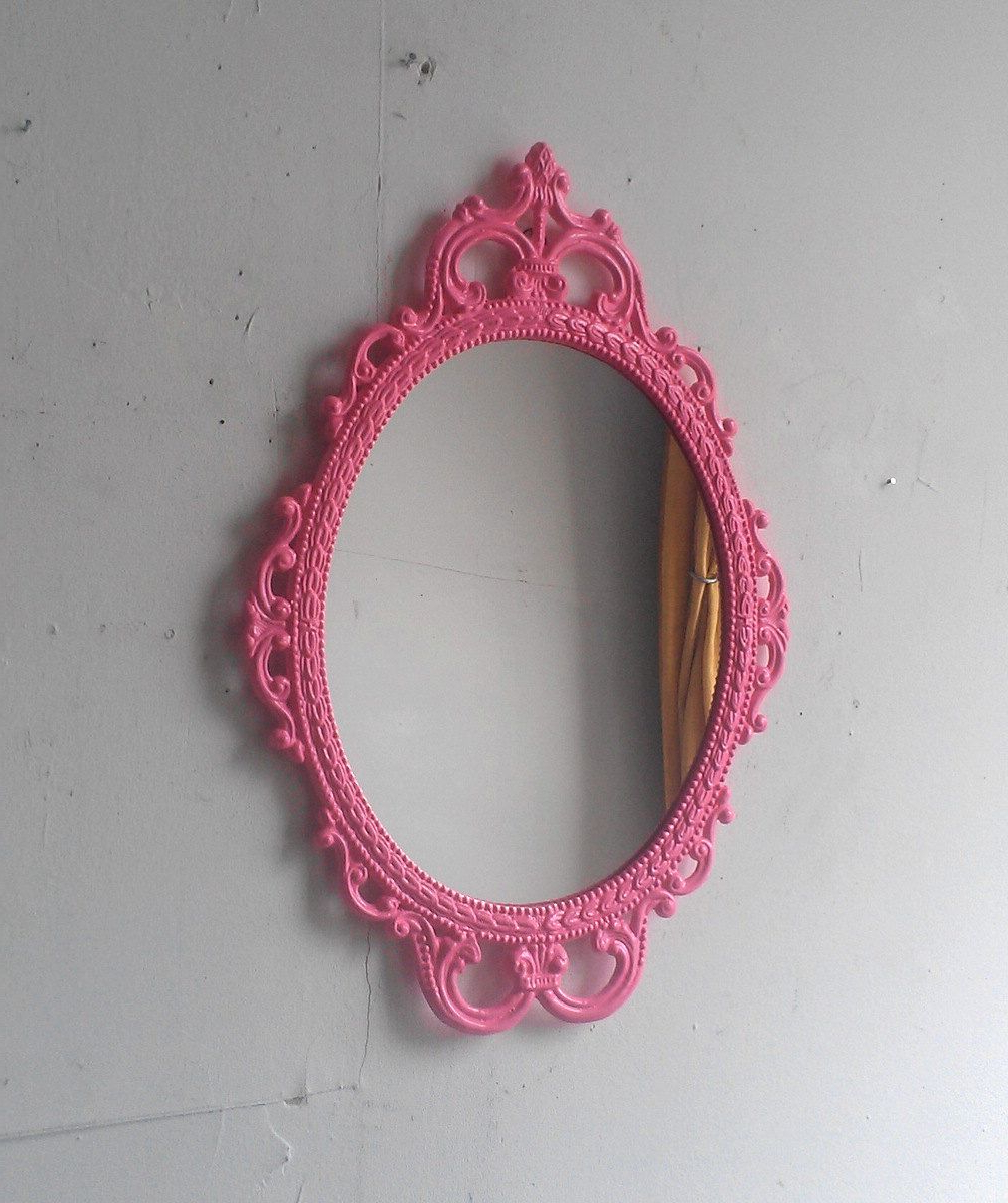 Pink Wall Mirrors, Vintage (View 5 of 20)