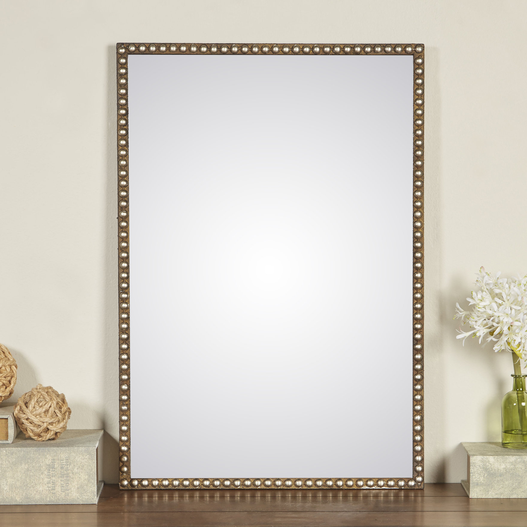 Pioche Traditional Wall Mirror With Best And Newest Lake Park Beveled Beaded Accent Wall Mirrors (View 9 of 20)