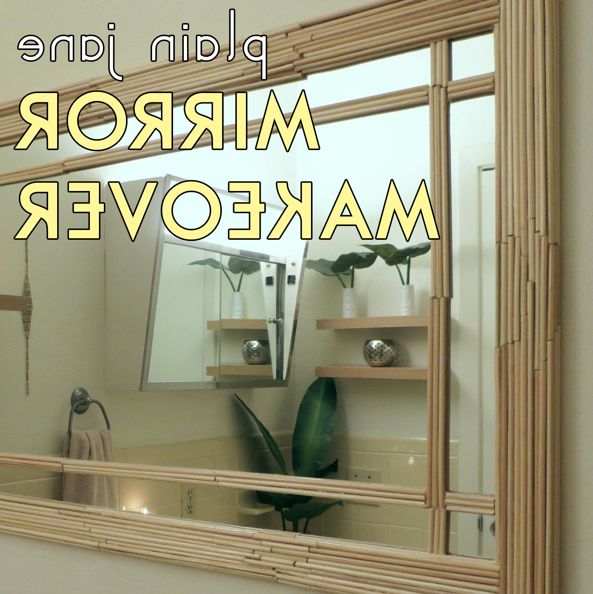 Plain Jane Wall Mirror Makeover – The Diy Homegirl In Widely Used Bamboo Wall Mirrors (View 19 of 20)