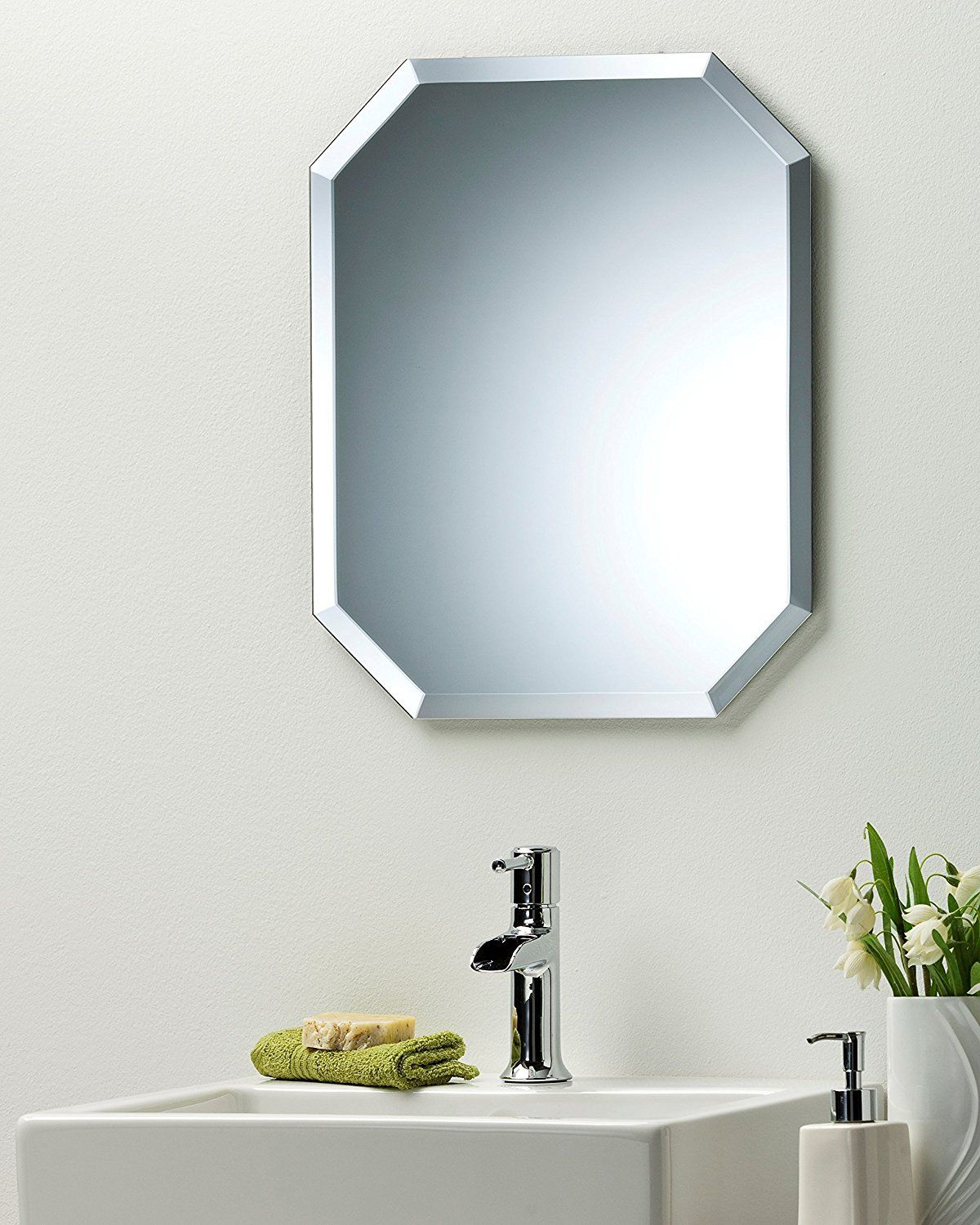 Plain Wall Mirrors In 2019 Octagon Bathroom Wall Mirror Modern Stylish With Bevel Plain (View 18 of 20)