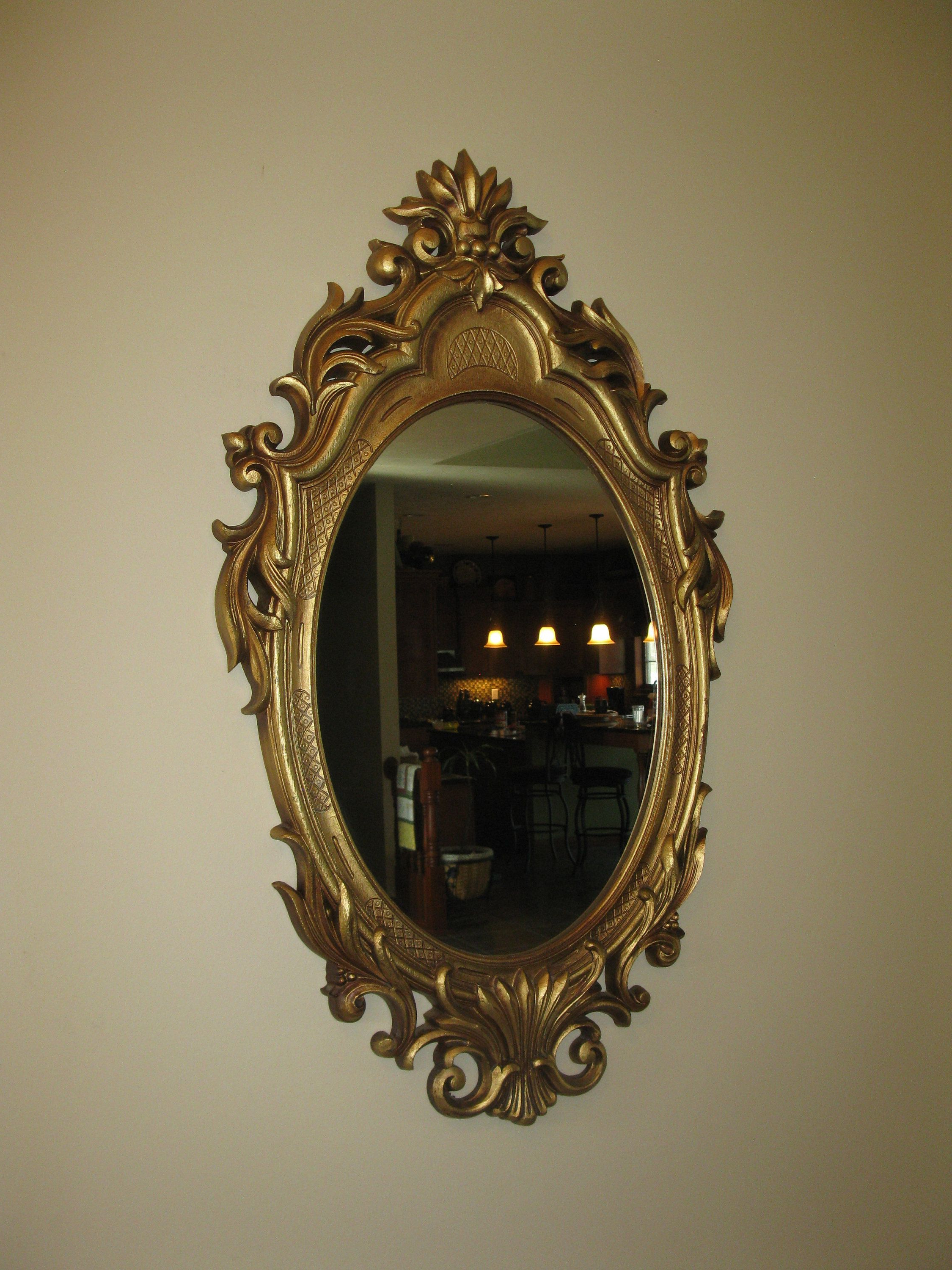 """Plastic Wall Mirrors For Most Recently Released Large Ornate Wall Mirror  Oval Shape – Plastic Framed  33"""" X  (View 13 of 20)"""