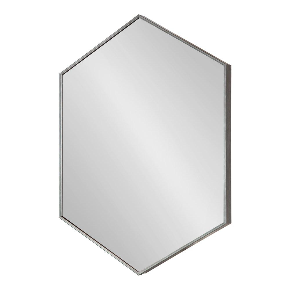 Plastic Wall Mirrors With Regard To Most Up To Date Kate And Laurel Rhodes Hexagon Dark Silver Plastic Wall Mirror (View 15 of 20)