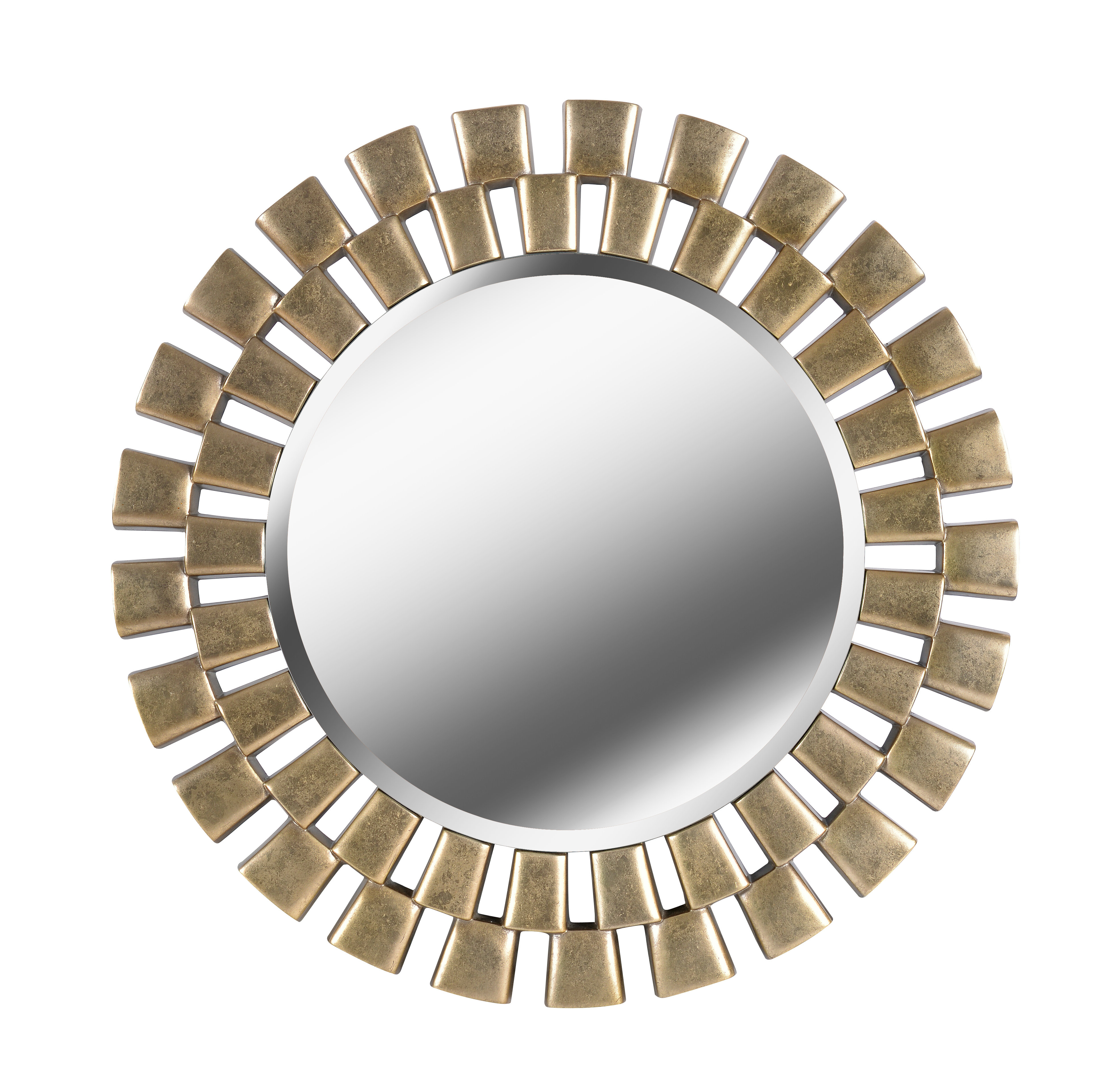 Point Reyes Molten Round Wall Mirrors Within Famous Glam Beveled Accent Mirror (View 18 of 20)
