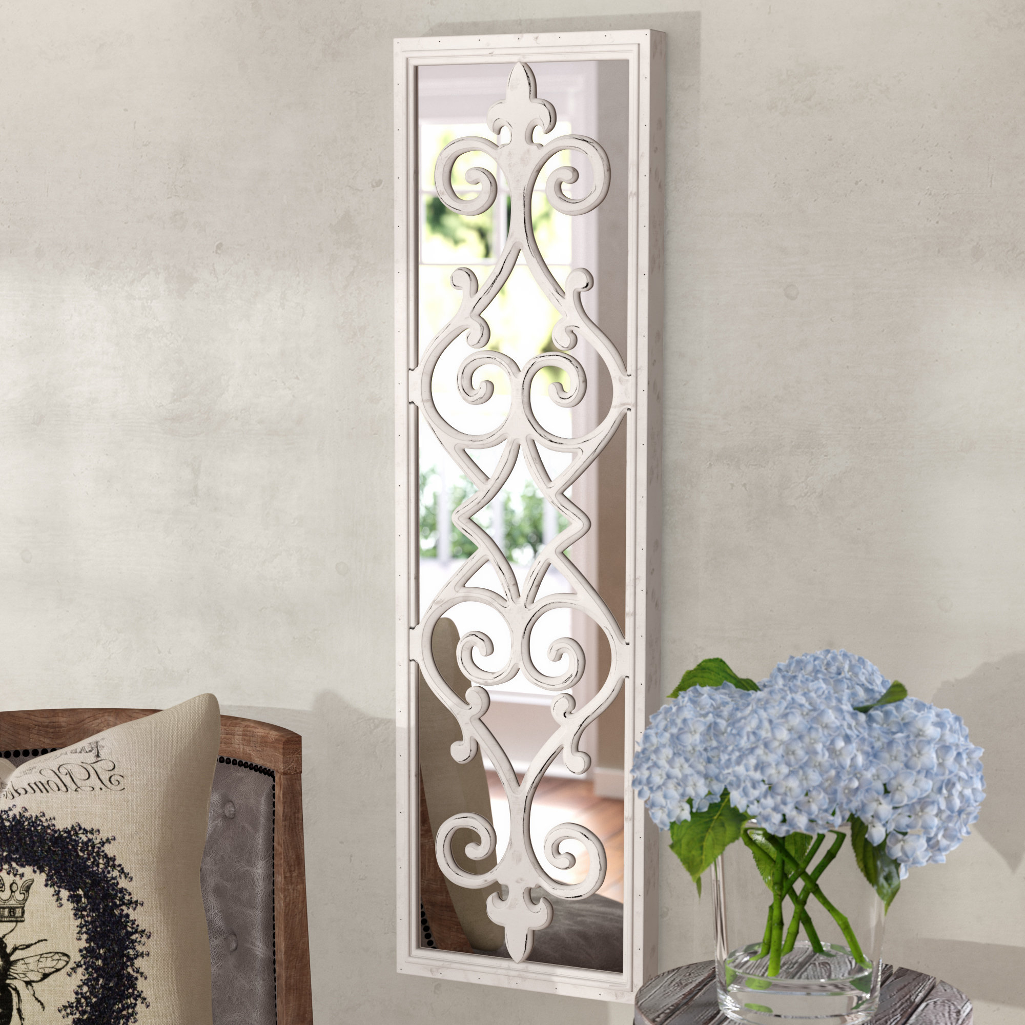 Politte Framed Decorative Scroll Wall Mirror Intended For Well Liked Decorative Cheap Wall Mirrors (View 17 of 20)