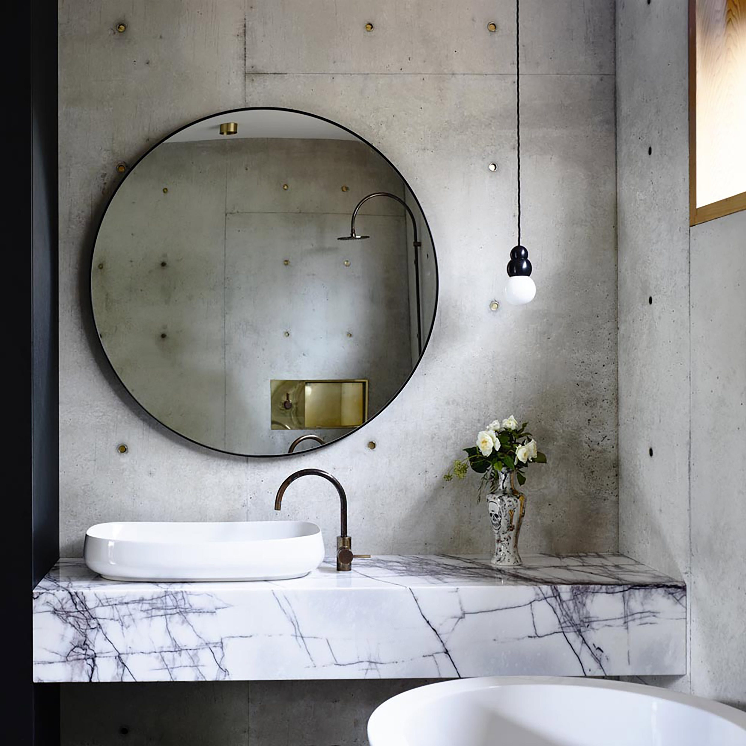 Popular 17 Fresh & Inspiring Bathroom Mirror Ideas To Shake Up Your Morning Throughout Hanging Wall Mirrors For Bathroom (Gallery 18 of 20)