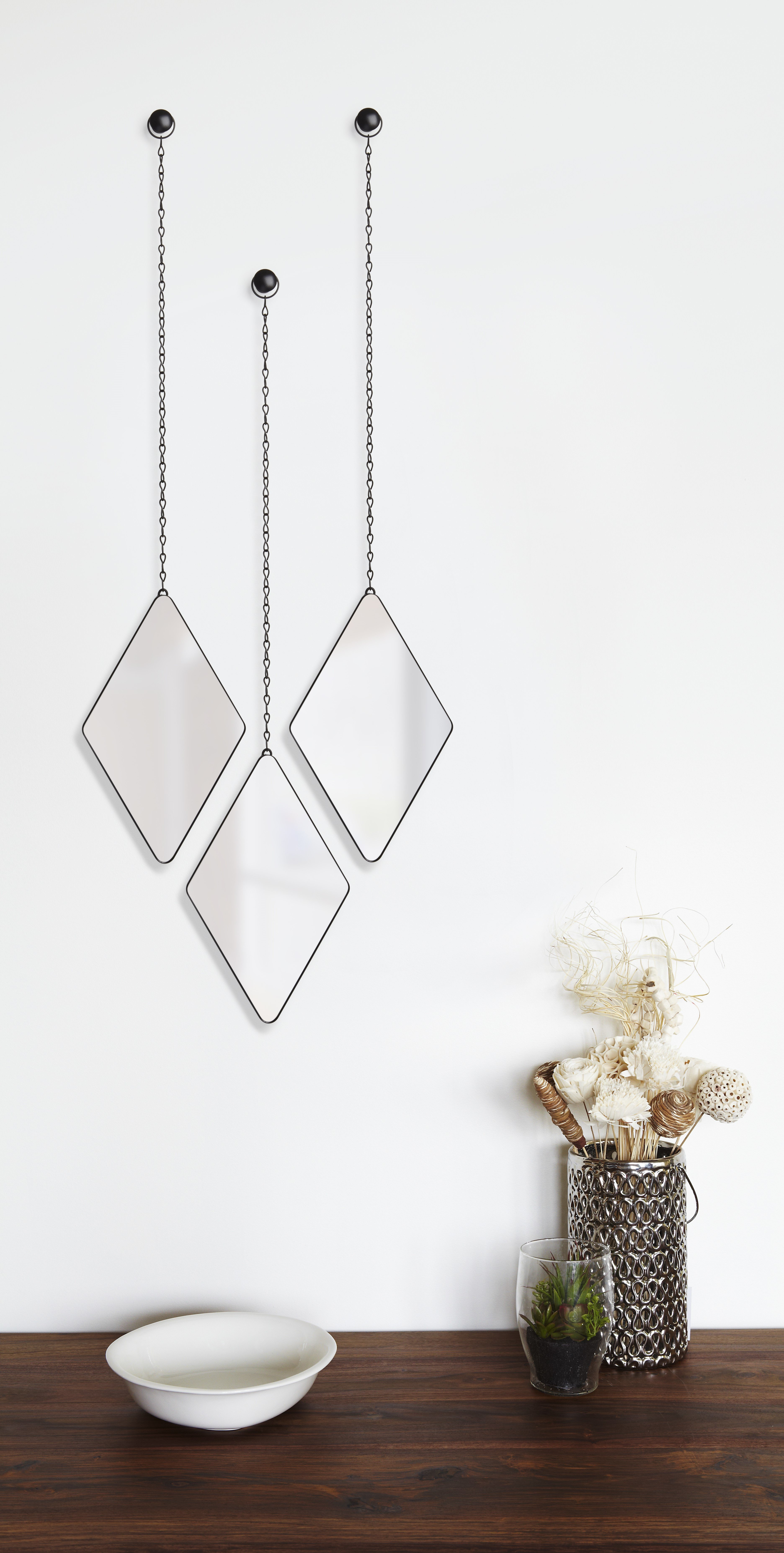 Featured Photo of 3 Piece Dima Hanging Modern & Contemporary Mirror Sets