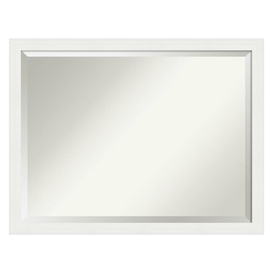 Popular Amanti Art Vanity White Narrow Bathroom Vanity Wall Mirror At Lowes Intended For Narrow Wall Mirrors (View 9 of 20)