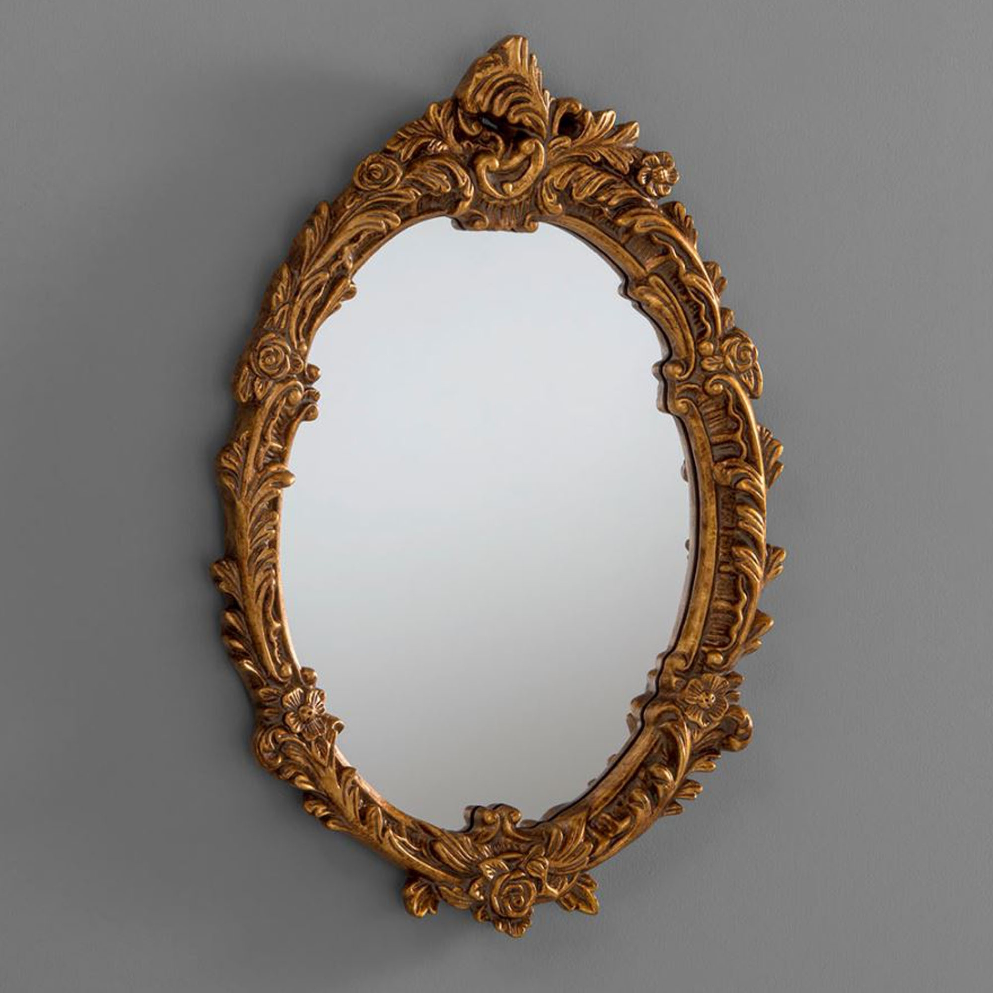 Popular Antique French Style Oval Gold Ornate Wall Mirror Within Antique Oval Wall Mirrors (View 14 of 20)