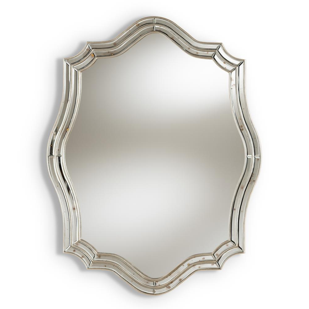 Popular Antique Silver Wall Mirrors With Regard To Isidora Antique Silver Wall Mirror (View 16 of 20)
