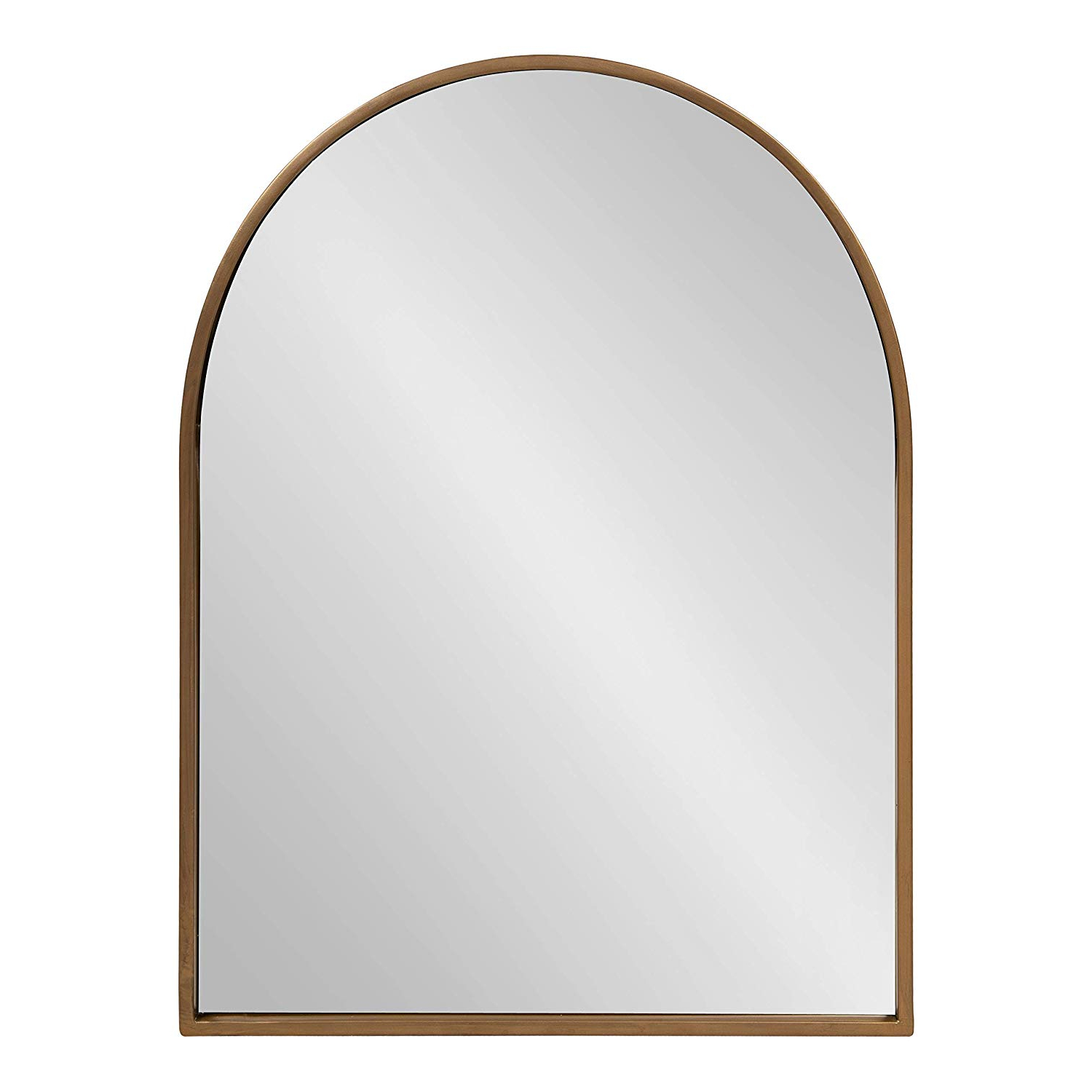 Popular Arch Wall Mirrors Within Kate And Laurel Valenti Metal Frame Arch Wall Mirror, Gold, 24X (View 19 of 20)