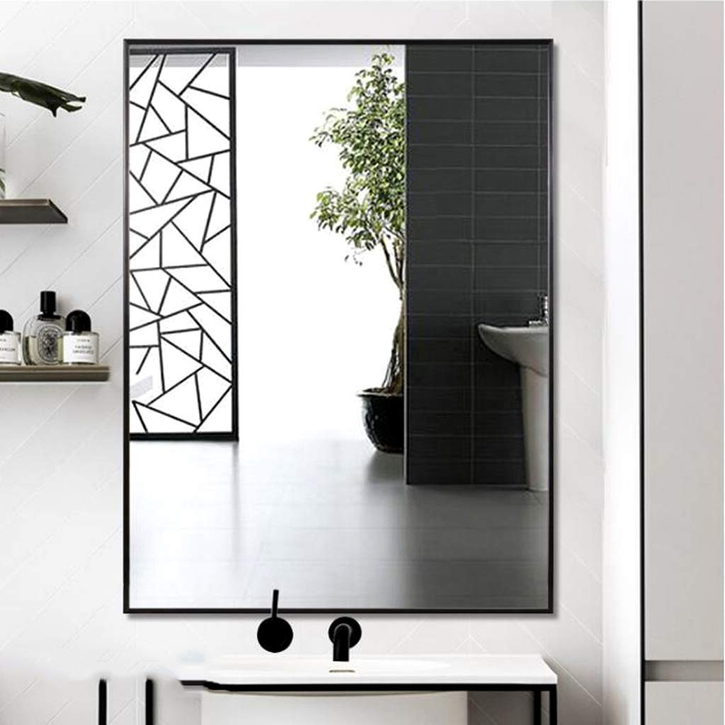 Popular Bathroom Mirror Simple Square Bathroom Mirror Stylish Wall With Stylish Wall Mirrors (Gallery 15 of 20)