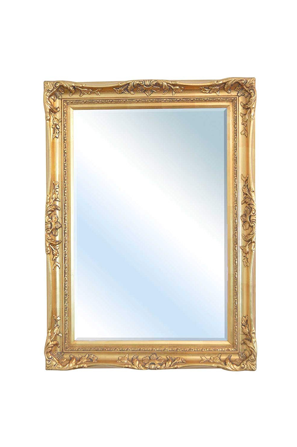 Popular Big Decorative Wall Mirrors Regarding Large Gold Antique Ornate Decorative Big Wall Mirror 3ft8 X 2ft (View 16 of 20)