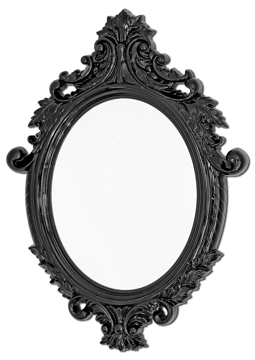 Popular Black Wall Mirrors For Vittoria Wall Mirror (black) (View 4 of 20)