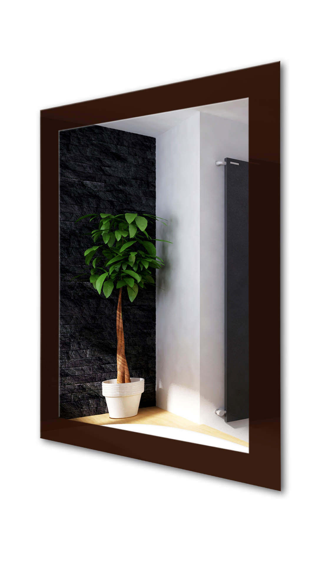Popular Brown Wall Mirrors In Deep Brown (rectangle) Wall Mirror (View 19 of 20)