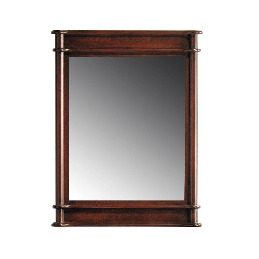 Popular Cherry Wall Mirrors With Regard To Home Decorators Collection Essex 31 In. L X 24 In (View 11 of 20)