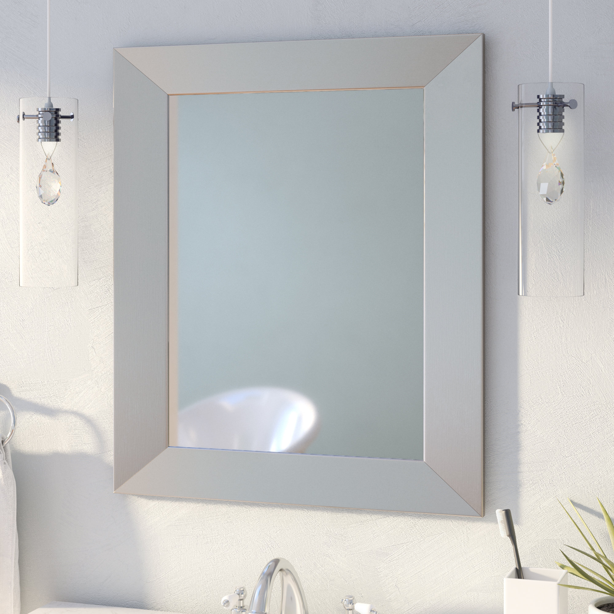 Popular Contemporary Bathroom Wall Mirrors Throughout Kurt Modern & Contemporary Wall Mirror (View 14 of 20)