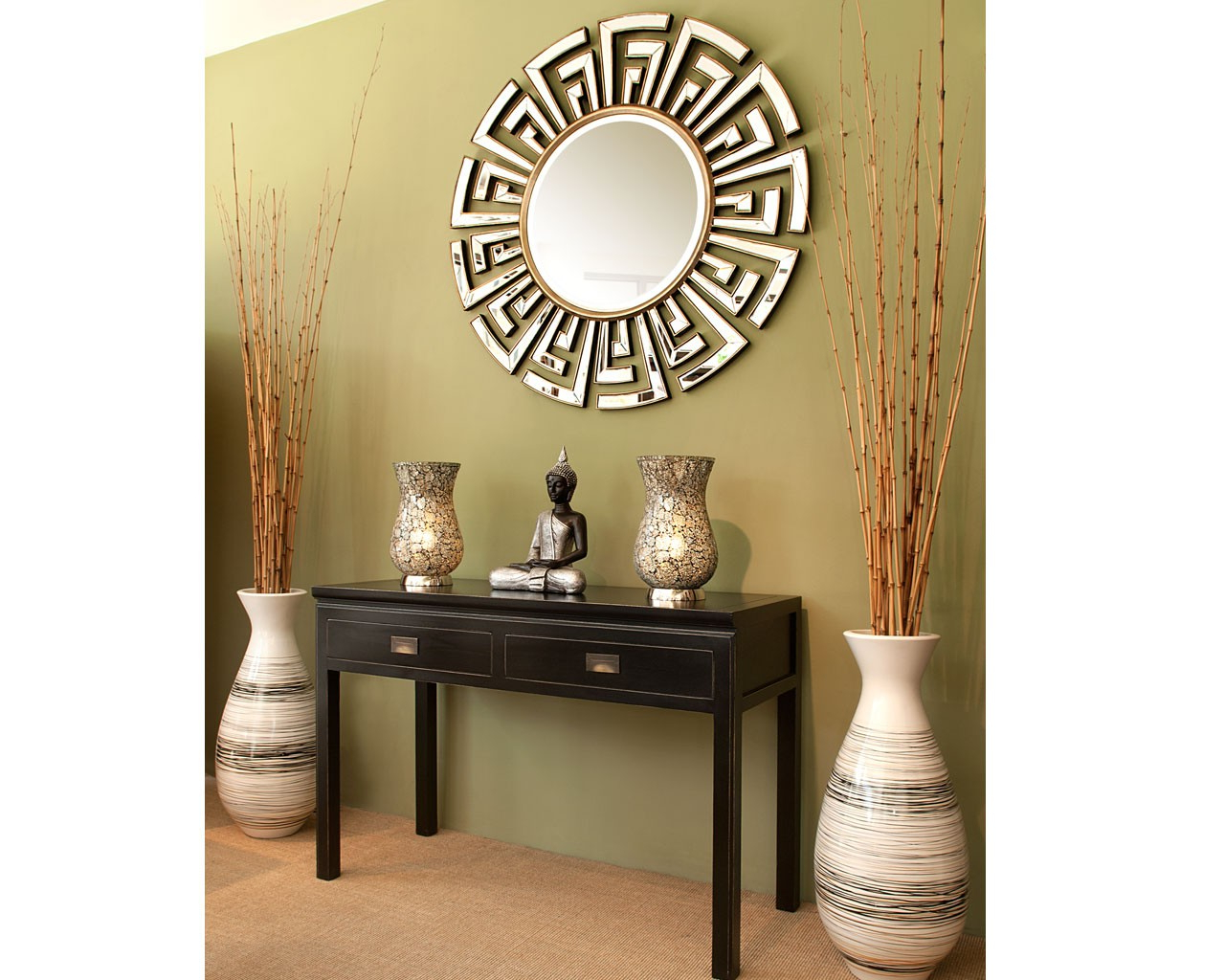 Popular Contemporary Round Mirrors 36 X 42 Mirror Modern Decoration Italian With Ethnic Wall Mirrors (View 15 of 20)