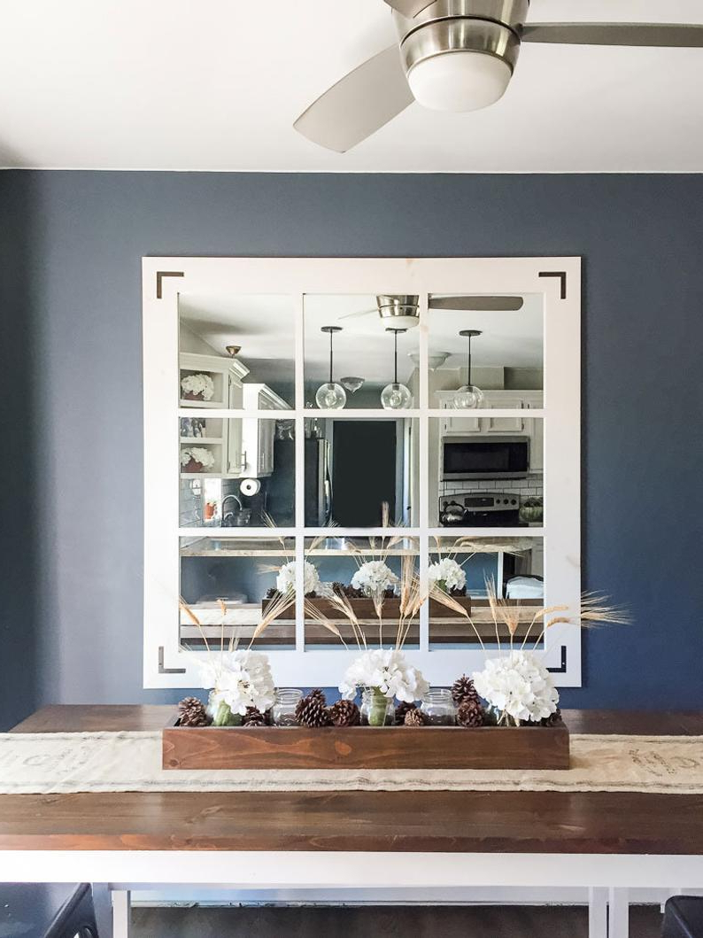 Popular Diy Large Wall Mirror Pertaining To Diy Large Farmhouse Mirror Plans (View 14 of 20)
