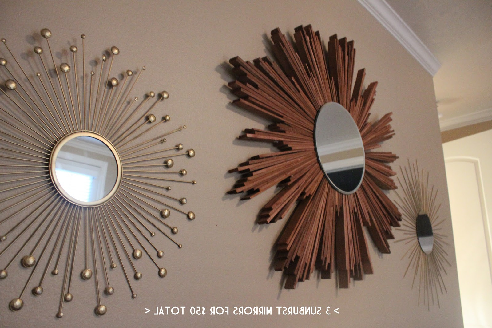 Popular Diy Wall Mirrors With Inspirations: Beautiful Sunburst Mirrors For Unique Home Accessories (Gallery 17 of 20)