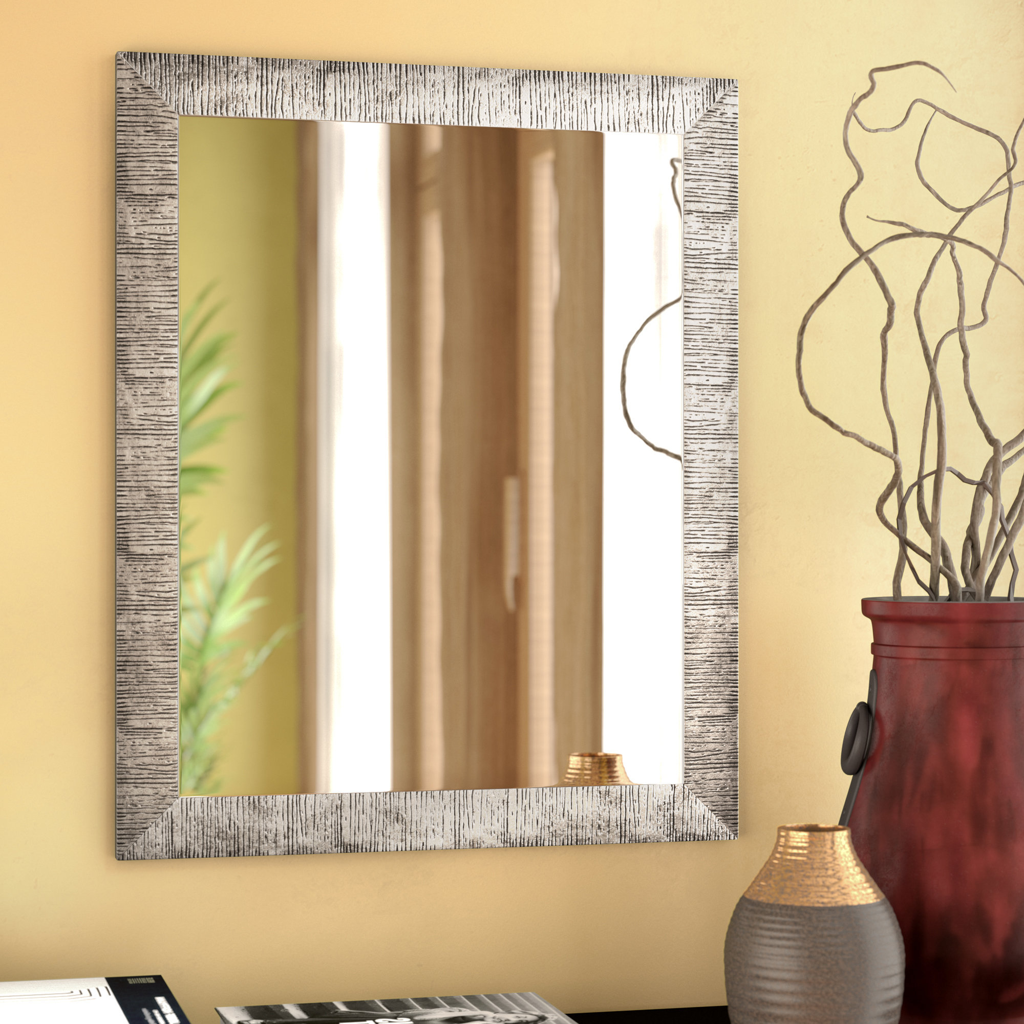 Popular Epinal Shabby Elegance Wall Mirrors Pertaining To Skeete Traditional Wall Mirror (View 9 of 20)