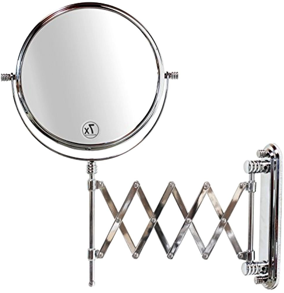 """Popular Extension Arm Wall Mirrors With 8"""" Wall Mount Makeup Vanity 7X Magnifying Mirror With Two Sided (View 19 of 20)"""