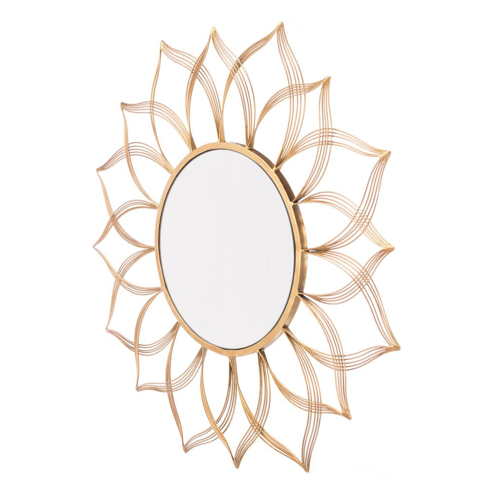 Popular Flower Gold Wall Mirror In Flower Wall Mirrors (View 20 of 20)