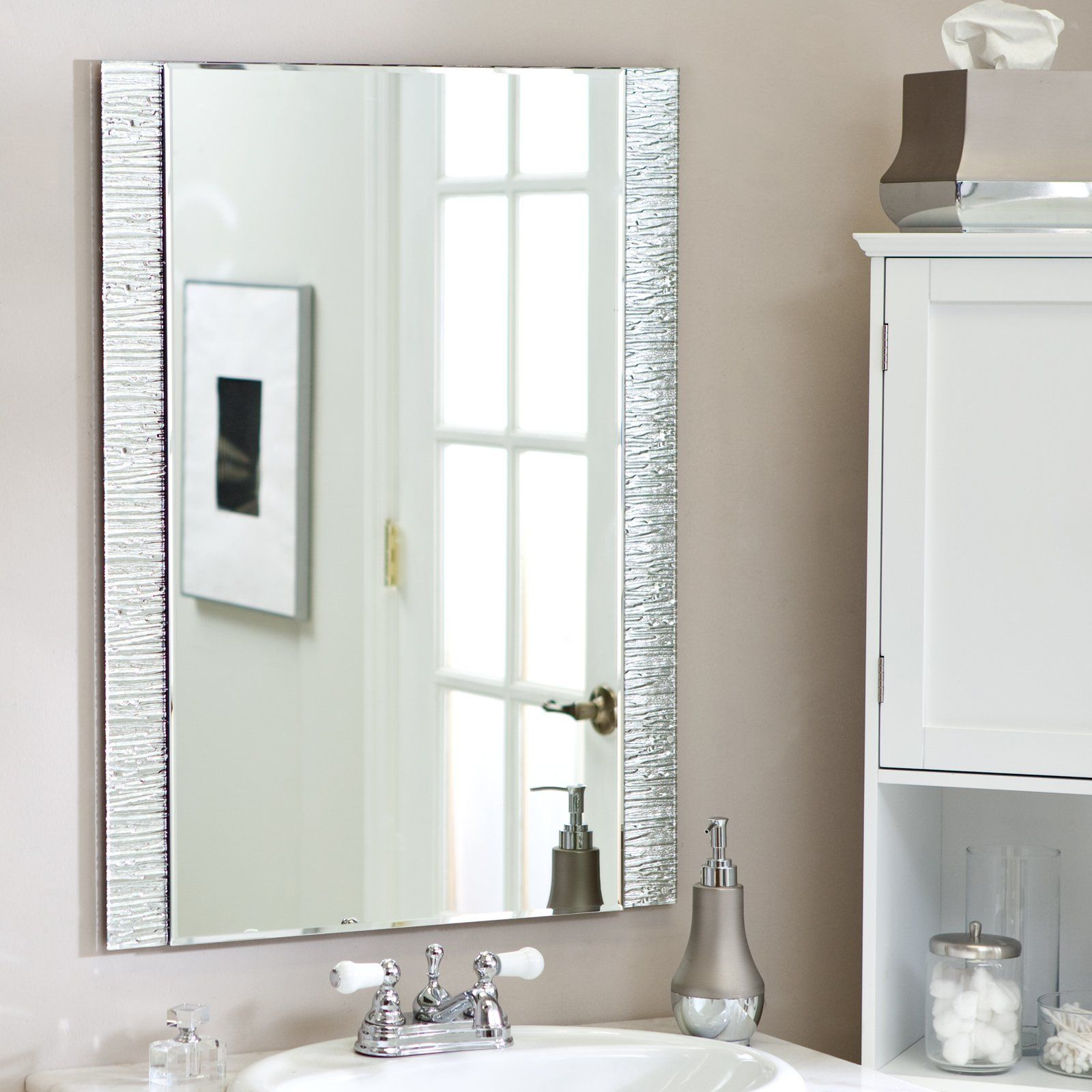 Popular Frameless Molten Wall Mirror – 23.5w X 31.5h In (View 5 of 20)