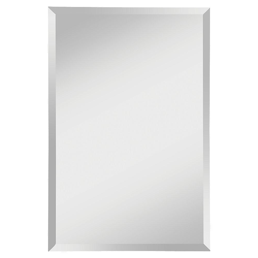 Popular Frameless Wall Mirrors Regarding Feiss Infinity 24 In. W X 36 In (View 12 of 20)
