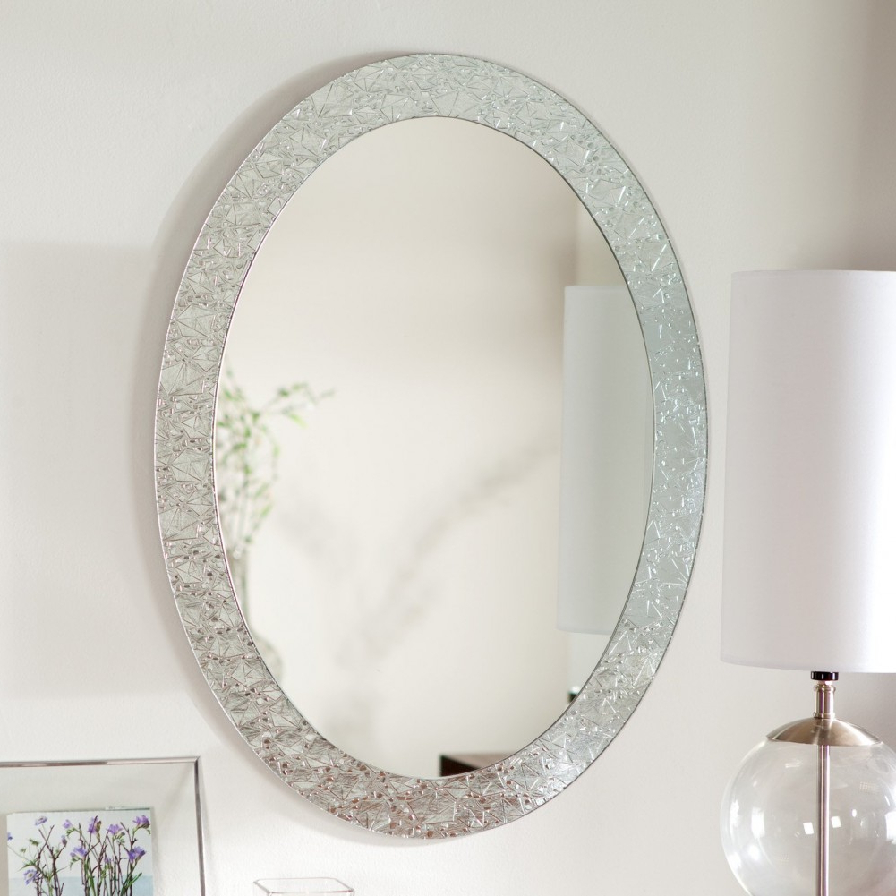 Popular Gray Wall Paint Round Mirror With Glass Frame Desklamp Photo Frame Within Hinged Wall Mirrors (View 19 of 20)
