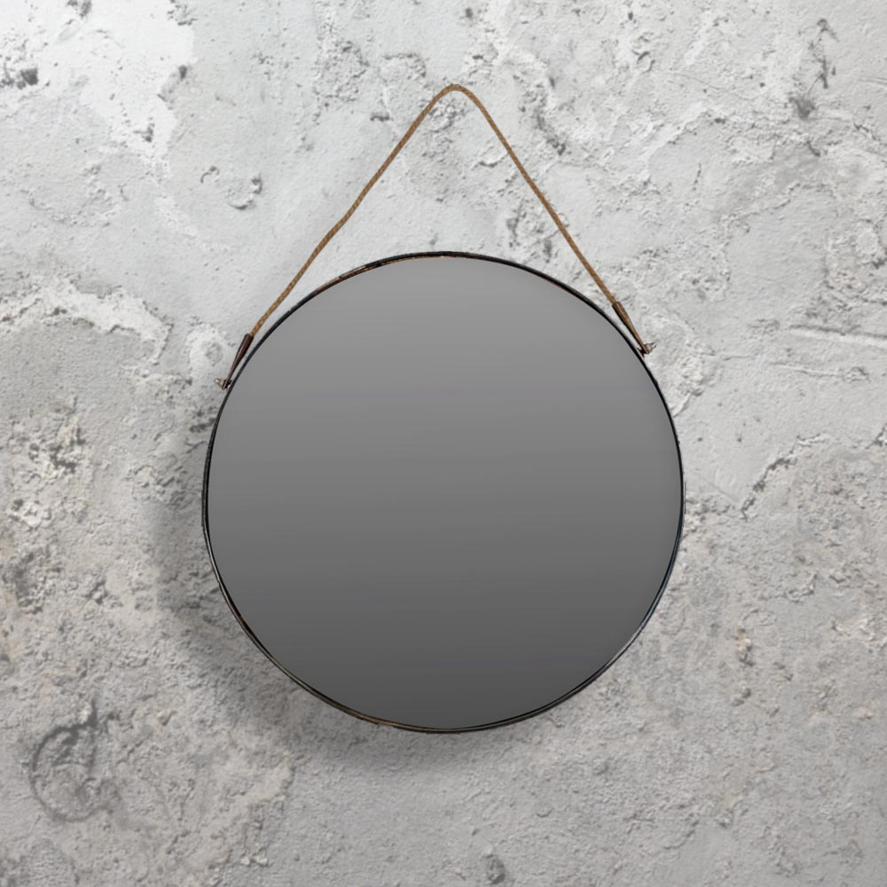 Popular Hang Wall Mirrors Pertaining To Hanging Round Mirror Cl (View 5 of 20)