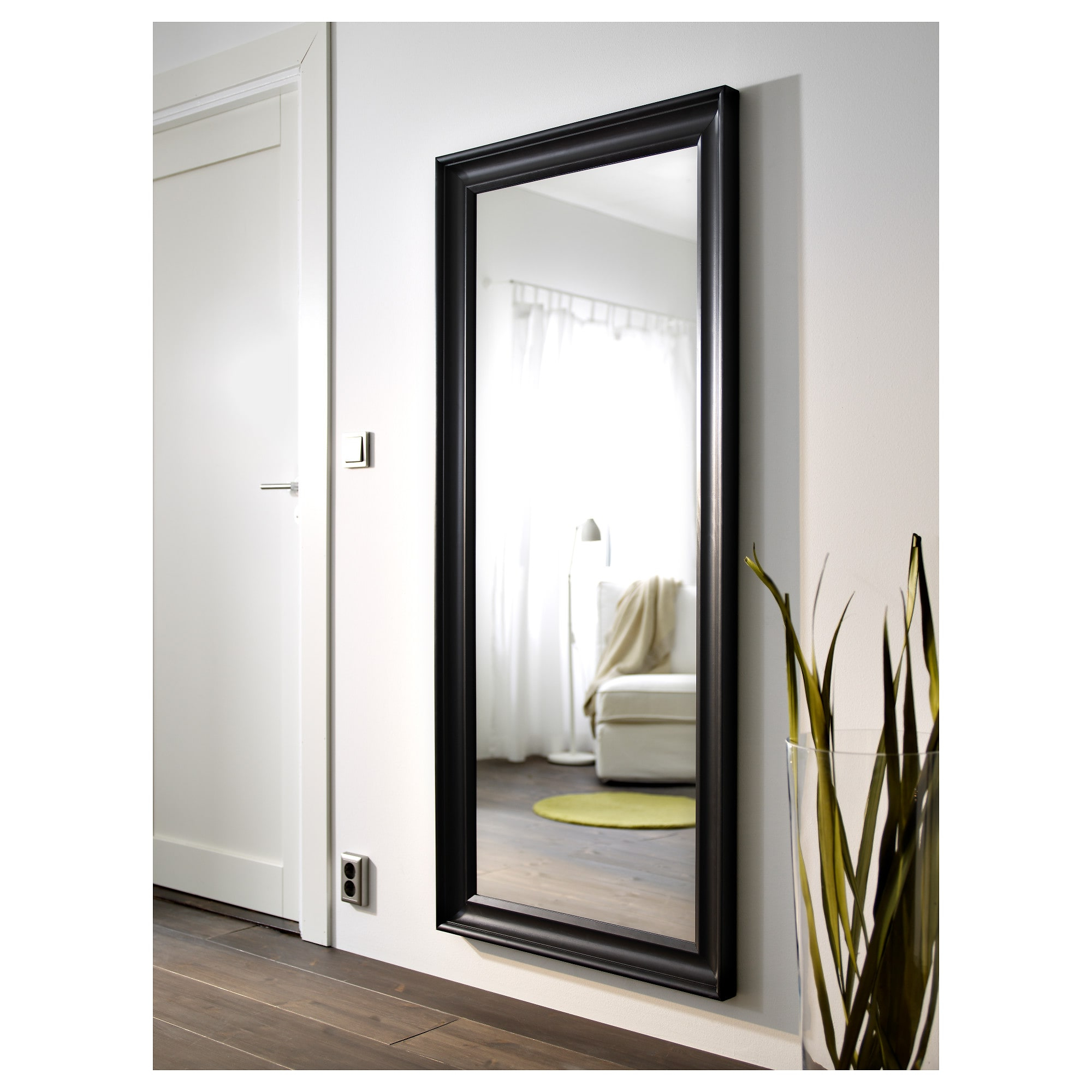 Popular Hemnes – Mirror, Black Brown With Ikea Round Wall Mirrors (View 13 of 20)