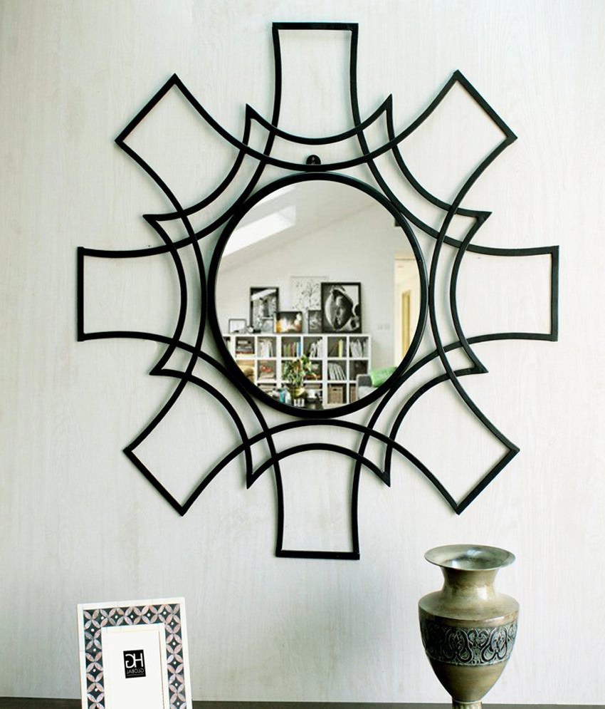 Popular Hosley Decorative Star Shaped Iron Wall Mirror In Iron Wall Mirrors (Gallery 9 of 20)
