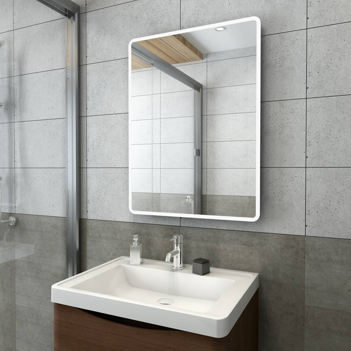 Popular Illuminated Wall Mirrors For Bathroom Intended For Details About 800 X 600 Illuminated Wall Hung Led Bathroom Mirror With  Steam Free Demister Pad (View 17 of 20)