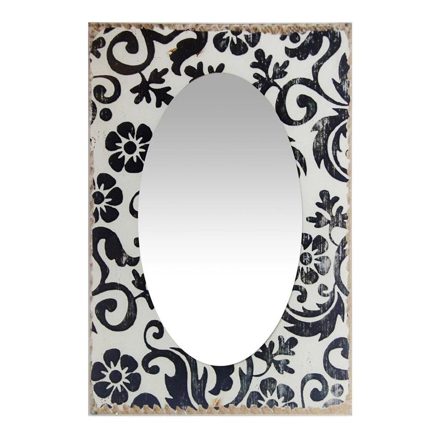 Popular Infinity Frameless Wall Mirrors Within Infinity Instruments 23.5 In L X 15.75 In W Antique White Polished (Gallery 17 of 20)