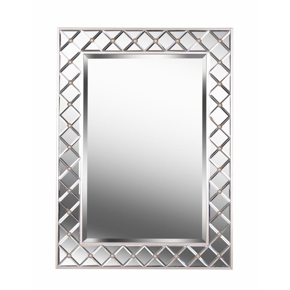 Popular Kenroy Home Quill Mirror Rectangular Champagne Wall Mirror 60428 With Oblong Wall Mirrors (View 15 of 20)