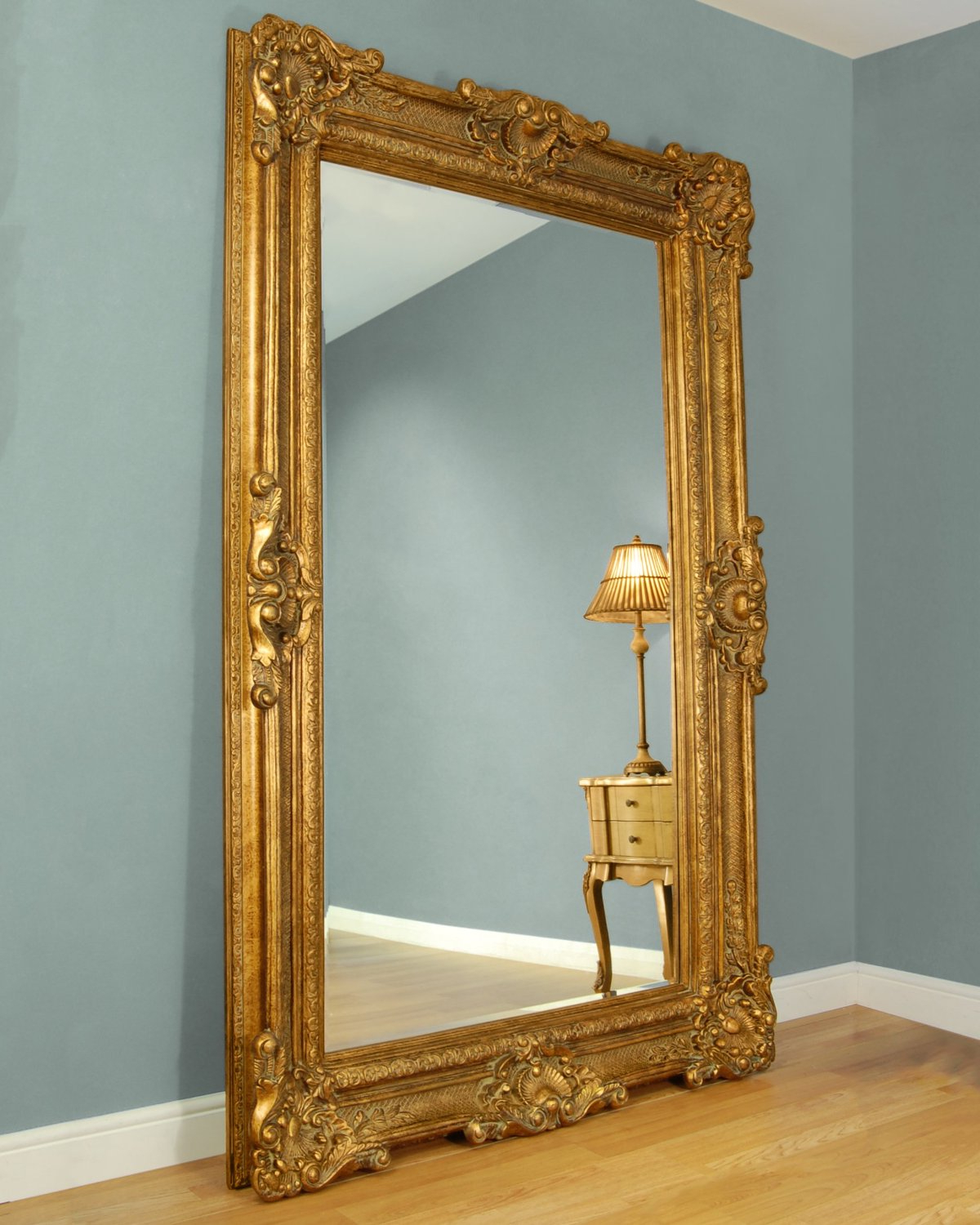 Popular Large Framed Wall Mirrors Throughout Gold Framed Wall Mirror Frame Mirrors For Living Room Decoration (View 11 of 20)